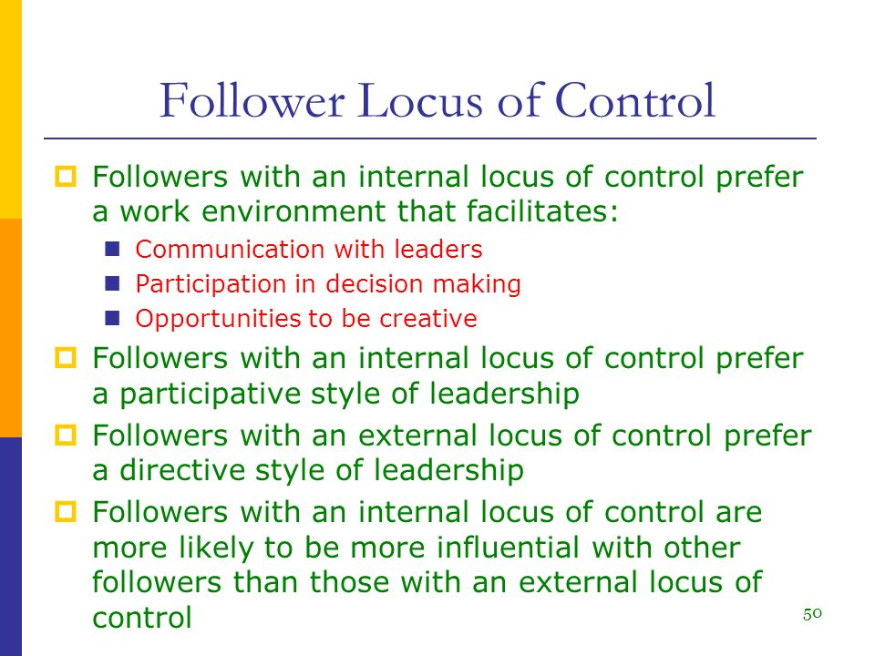An internal locus of control essay