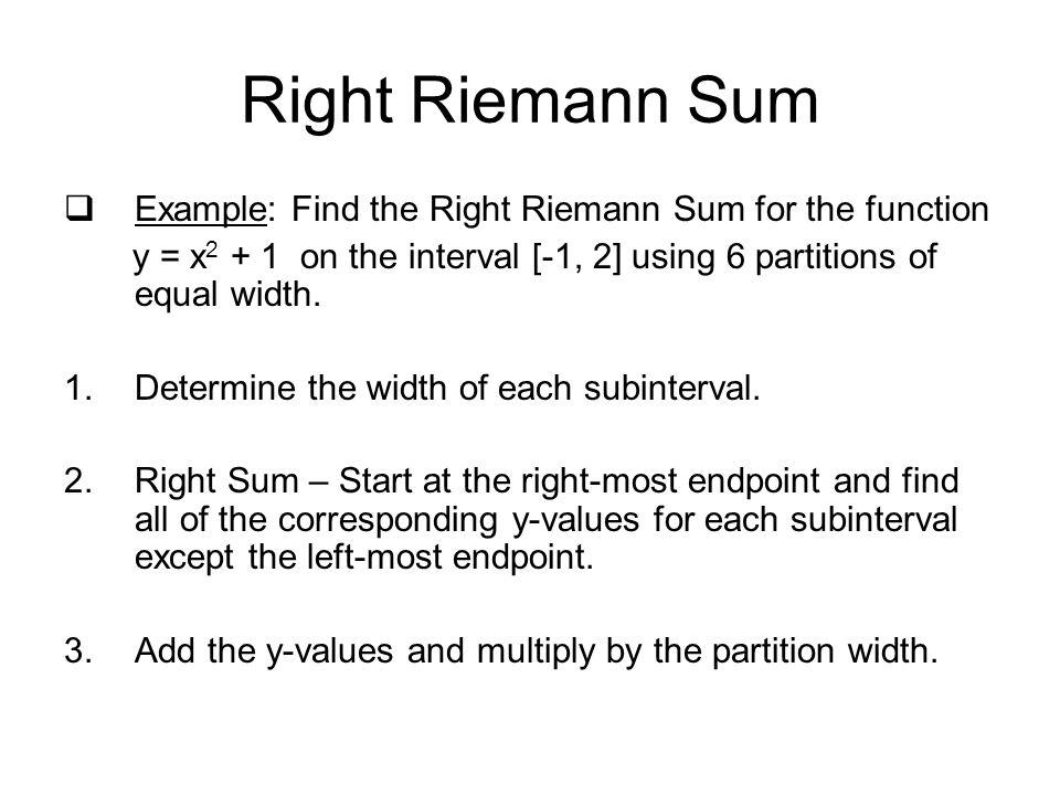 Definite Integrals & Riemann Sums - ppt download