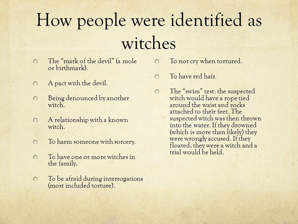Many many more people are witches than the ones who happen to
