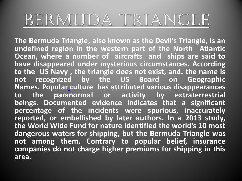 3 BERMUDA TRIANGLE ...