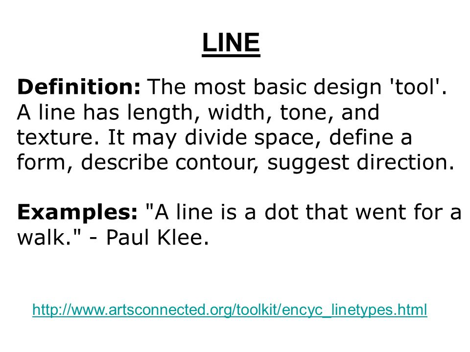 Line definition the most basic design 39 tool 39 a line has for Definition of form and space in architecture