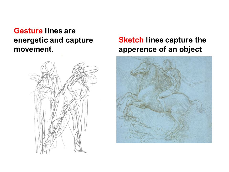 Gesture Lines Are Energetic And Capture Movement.