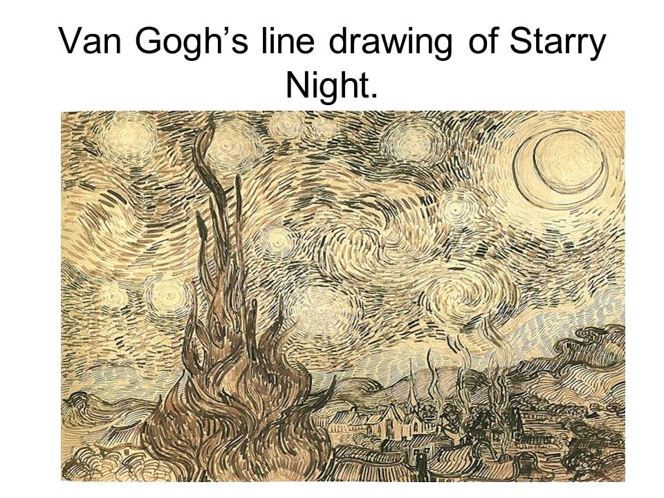 Line Drawing Van Gogh : Line definition the most basic design tool a has