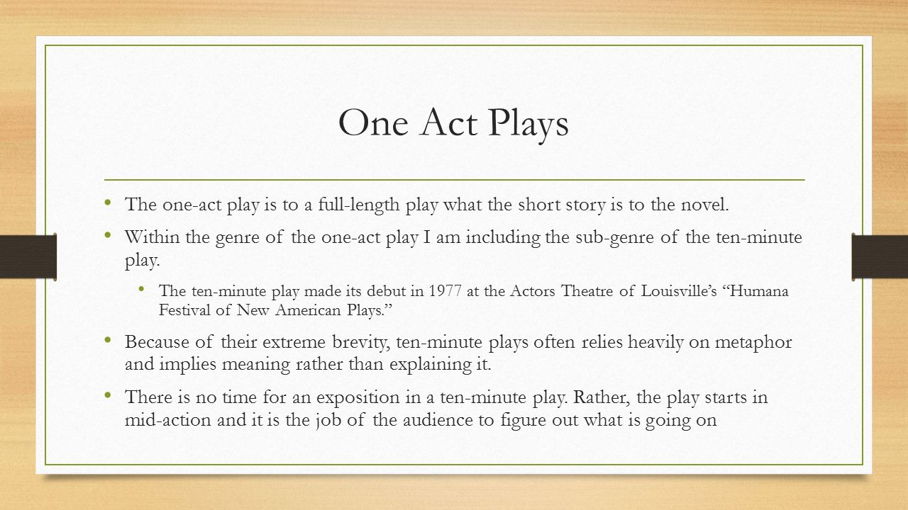 one act plays about dating