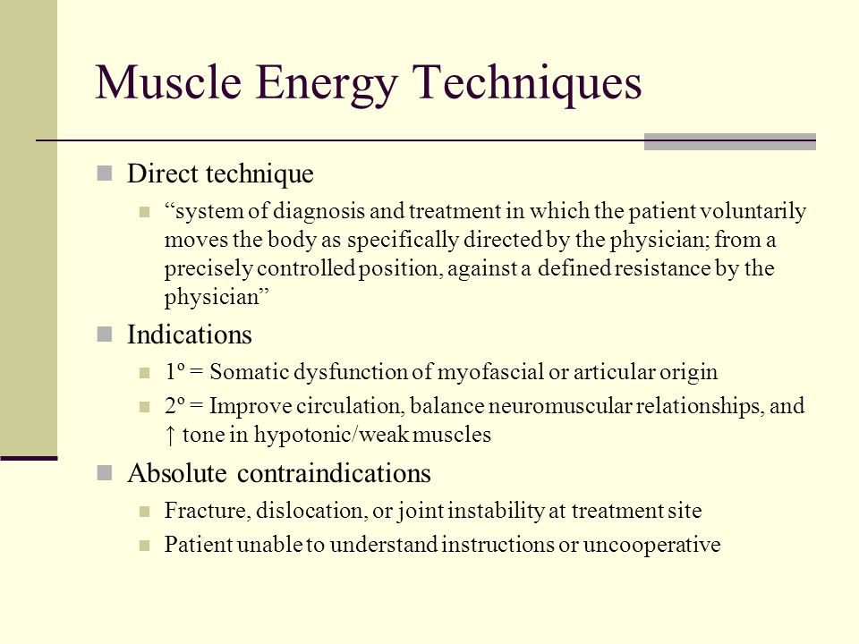 muscle energy techniques essay Some hip rotation muscle energy technique quad strain strapping pain down the back of my leg and doctors are presented these drugs by the pharmaceutical companies.