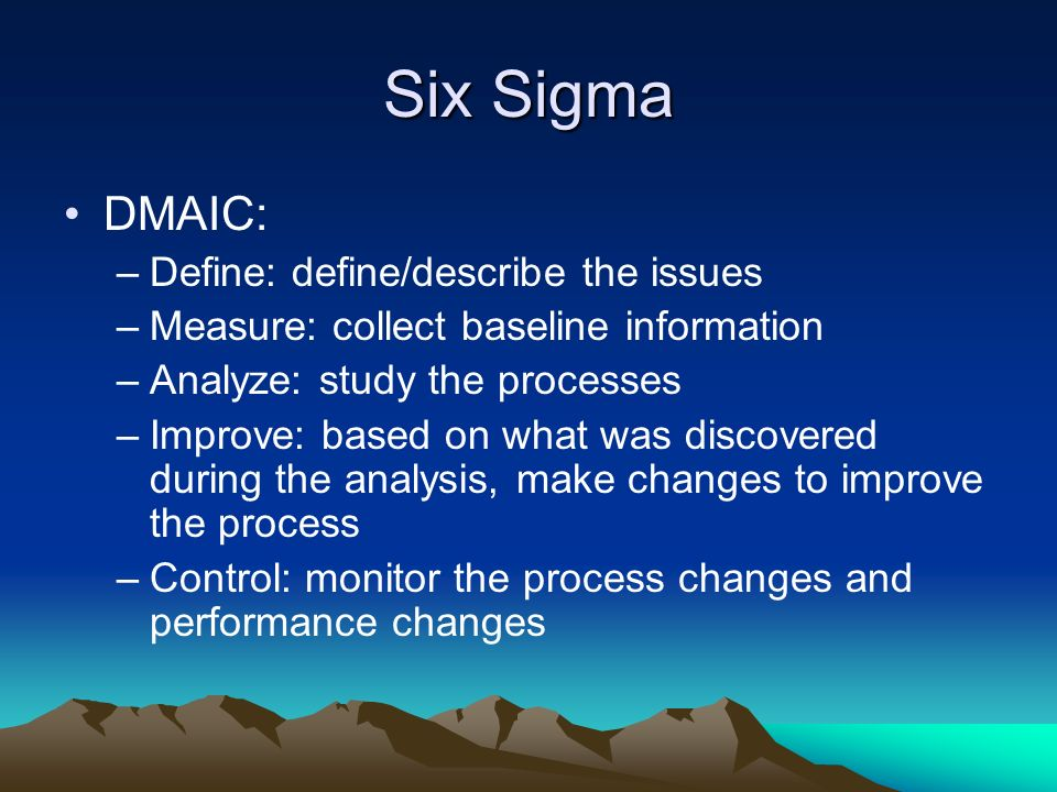 six sigma based approach to improve performance Balanced scorecard & six sigma – the best ways to improve  by utilizing the  dmaic approach: define, measure, analyze, improve and control  strategic  initiatives, while six sigma facilitates focused improvement within the.