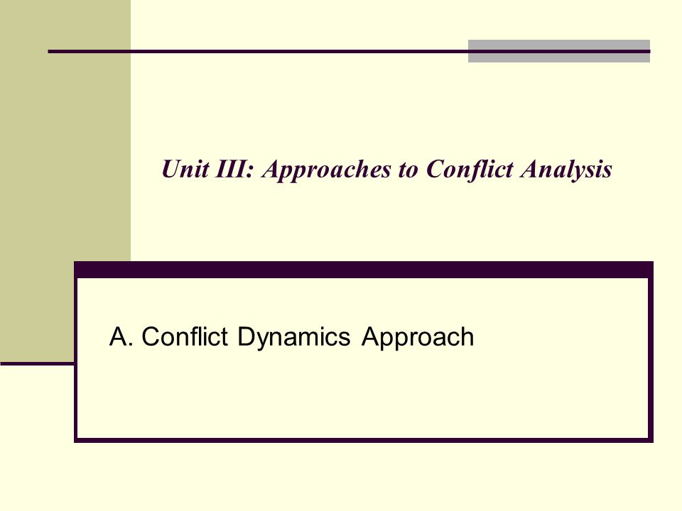 approaches to conflict analysis essay