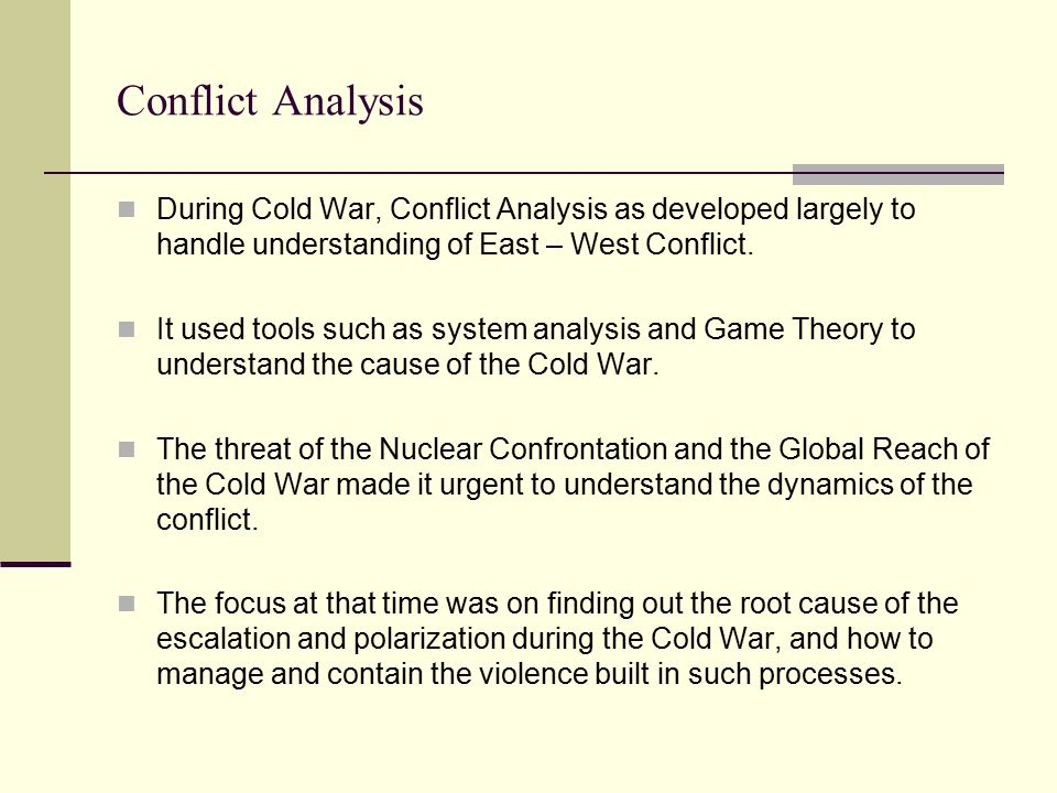 Conflict analysis
