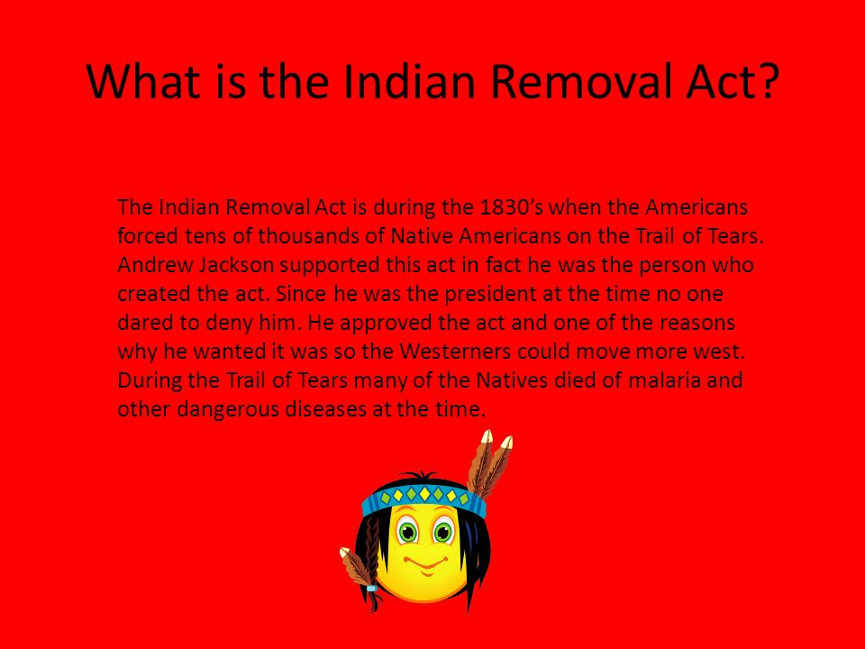 on the removal of act 2 An introductory lecture to the basics of andrew jackson's indian removal act subscribe to hiphughes to keep the universe aligned for free here.