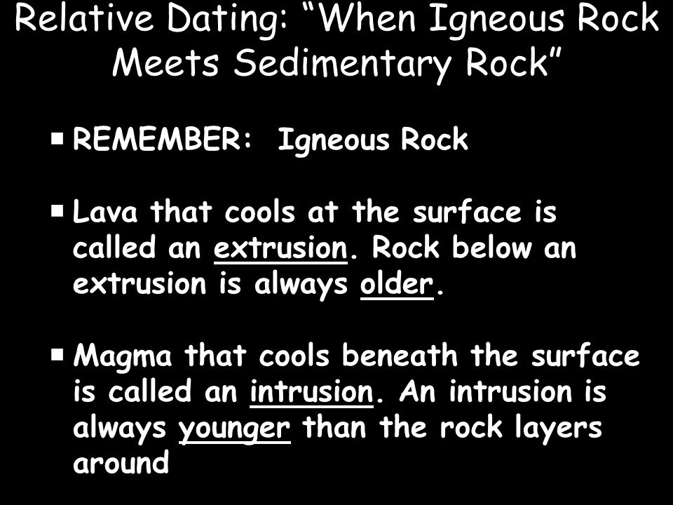 Age dating igneous rocks