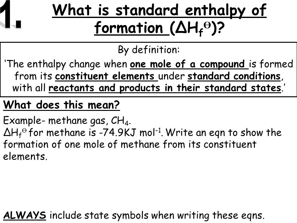 how to find enthalpy of formation calorimetry