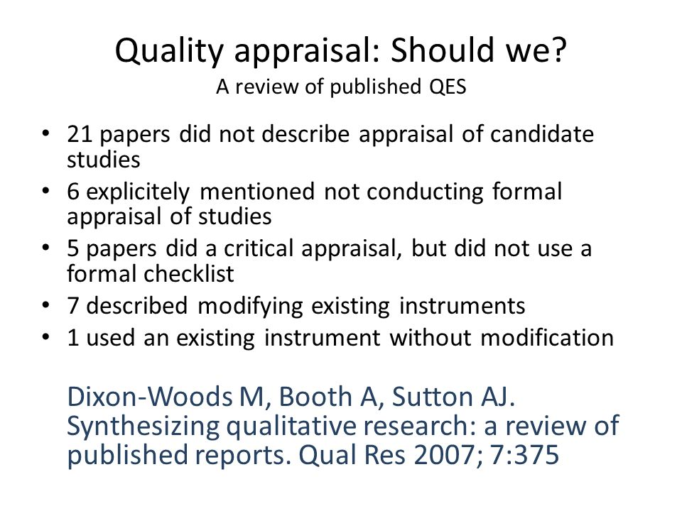 Understanding And Critiquing Quantitative Research Papers