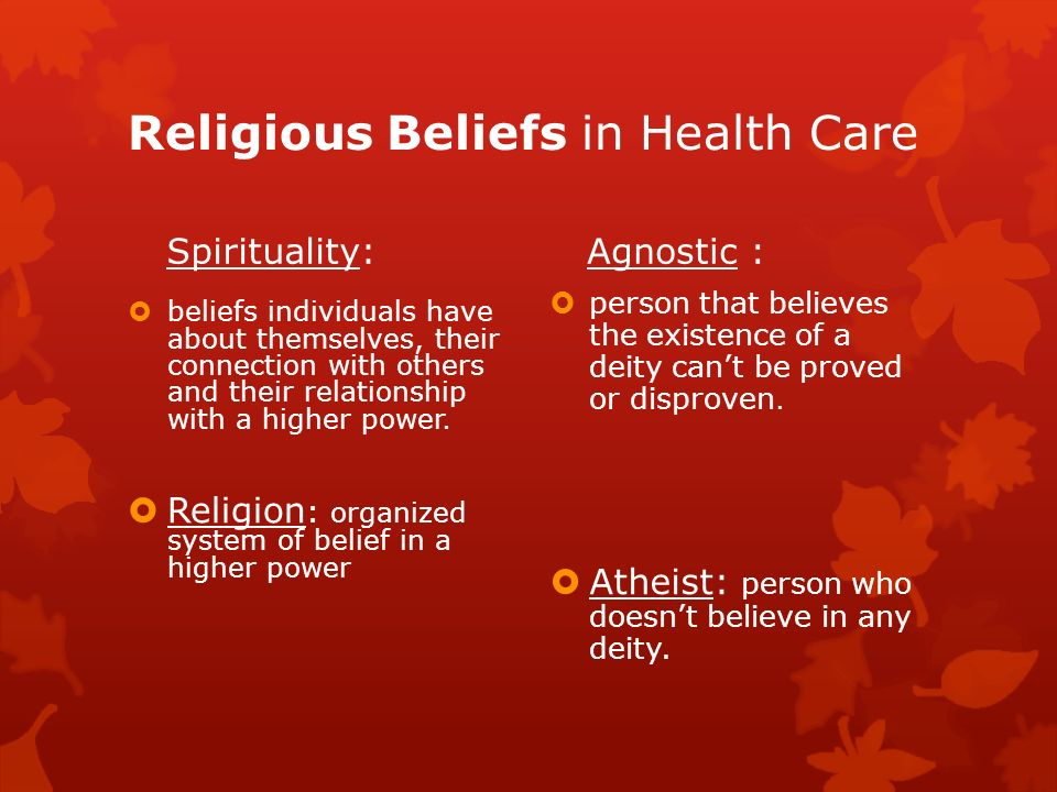beliefs on nursing and healthcare Traditional asian health beliefs & healing practices health beliefs can have a profound impact on the clinical care of asian harmony means health, good.