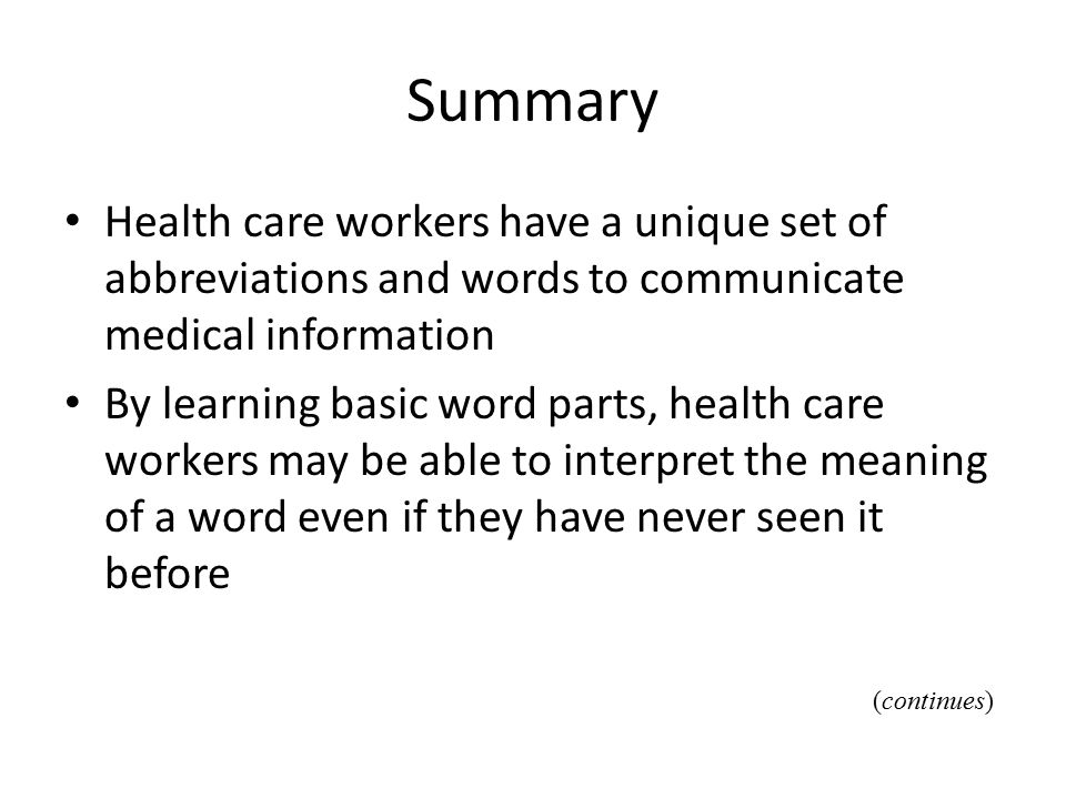 Chapter 6 Medical Terminology Ppt Download