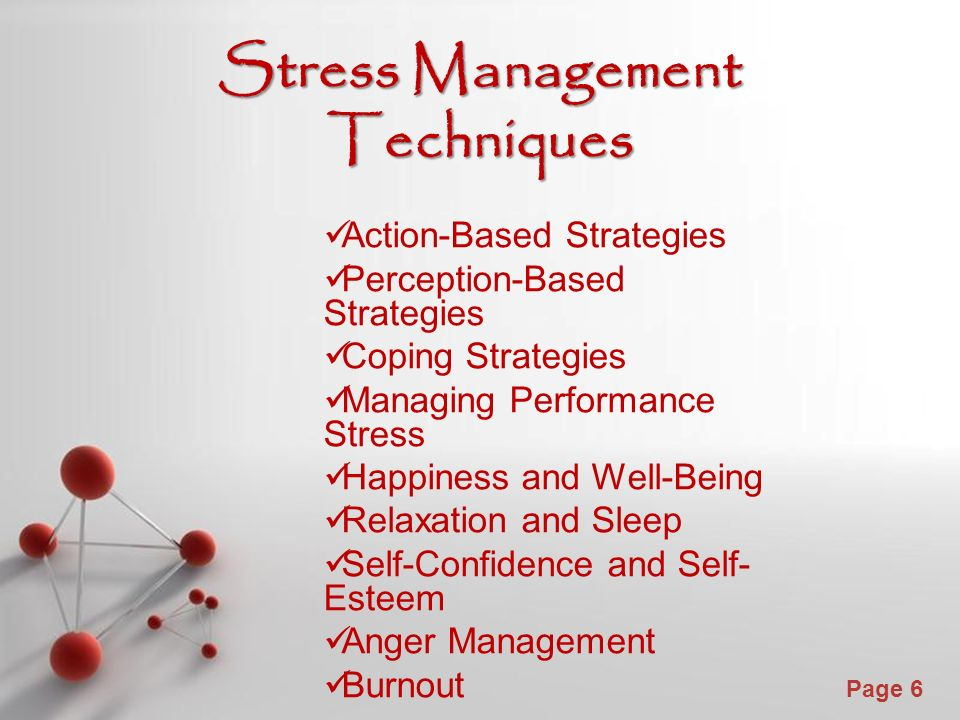 stress management techniques Learn ways to manage stress with reduction techniques, exercises, stress-management strategies and meditation discover the physical and psychological symptoms of stress.