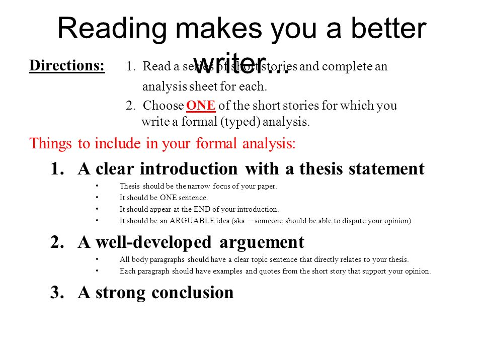 short story writing ppt video online  26 reading