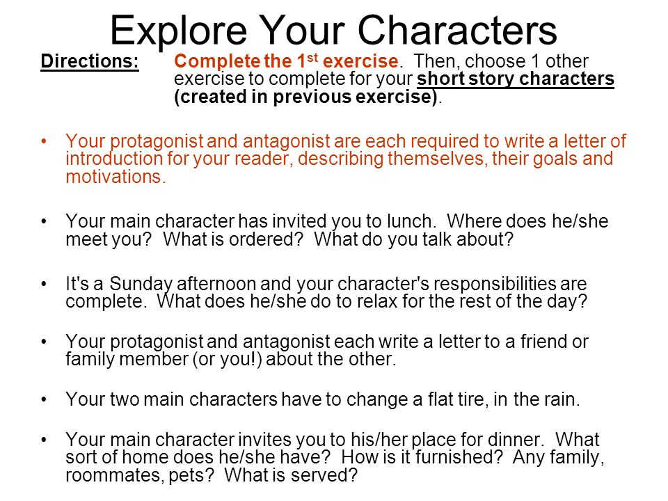 how to write a story without characters