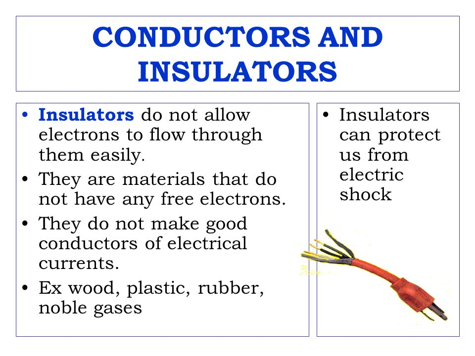 Electrical Conductors And Insulators : Current electricity bing com videos search ppt video