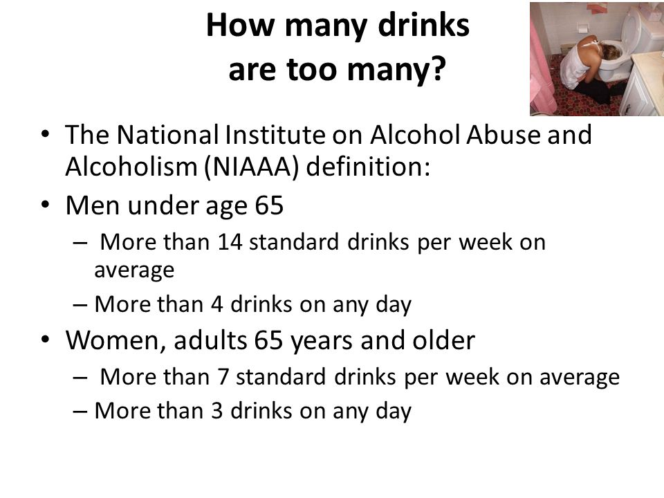 How Many Standard Drinks Per Week