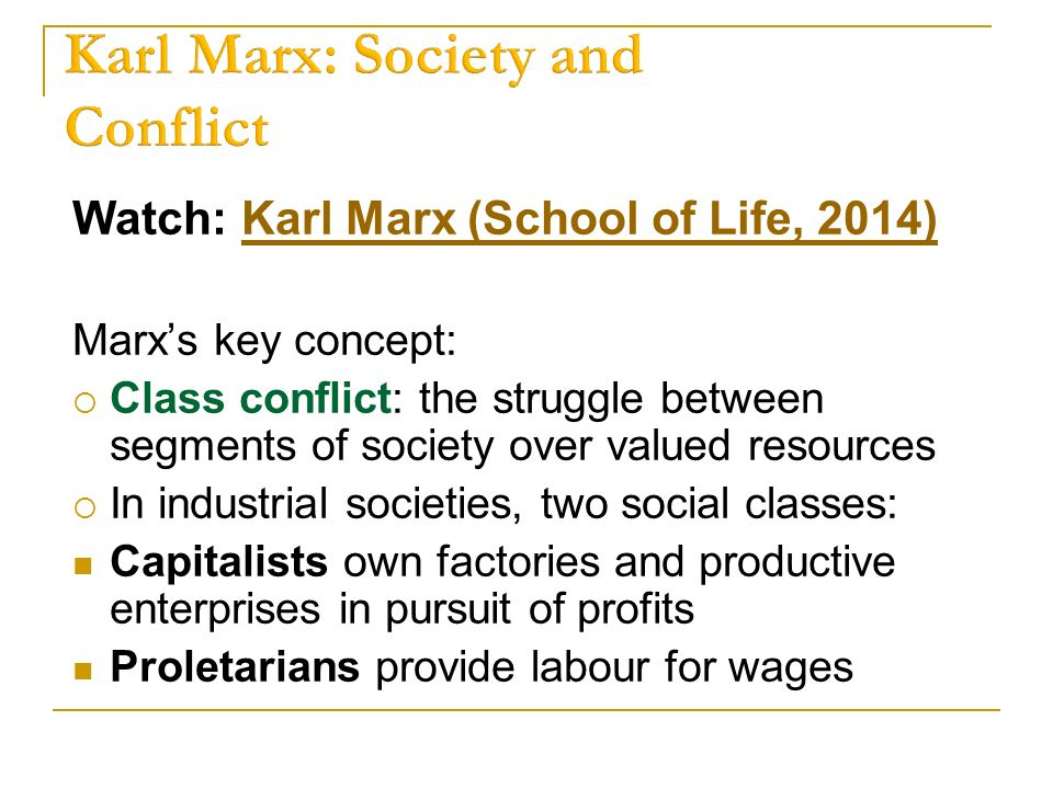 social class karl marx Karl marx would consider himself a member of the middle class marx was  fortunate to be born into a wealthy middle-class family in trier in the.