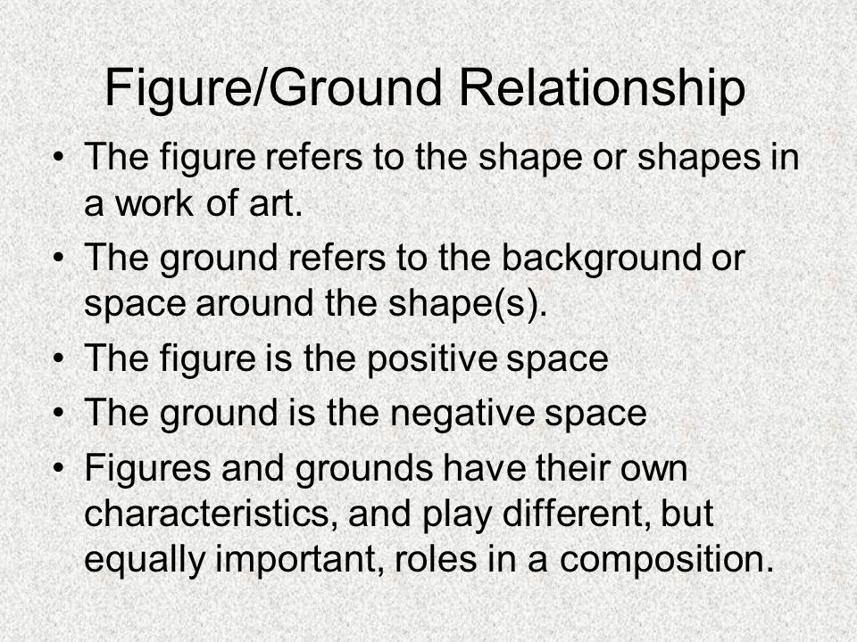 3d effect figure ground relationship