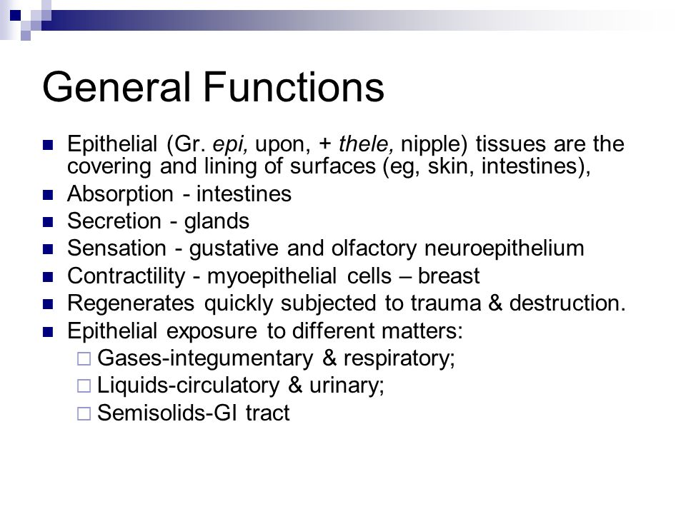 functions of epithelial tissue Epithelial tissue covers the body, lines all cavities, and composes the glands   describe the primary functions and characteristics of epithelial tissue.