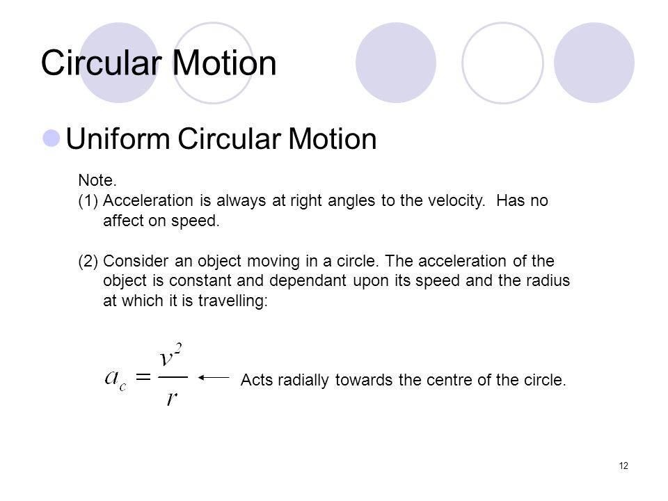 physics notes circular motion Physics 30 force and motion unit: applications of circular motion tangential velocity problems • these are problems where something is released from a circular path.