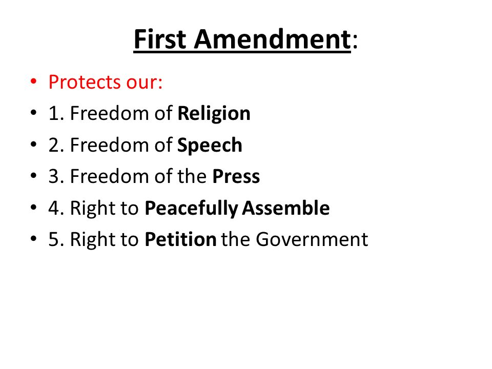 The Bill of Rights The first 10 amendments of the Constitution are ...