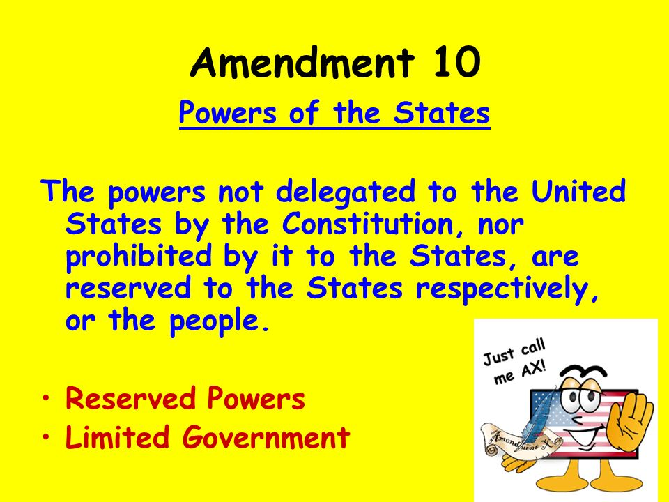 Rights Reserved To States Or People THE CONSTITUTION The B...