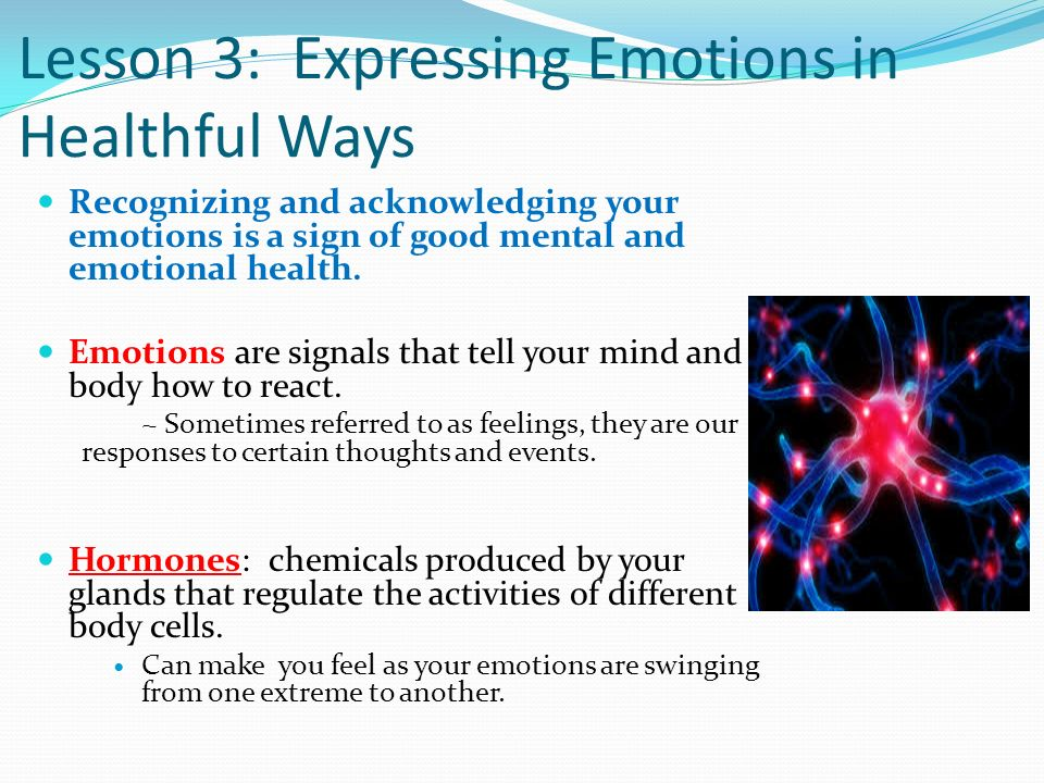 Lesson 3: Expressing Emotions in Healthful Ways