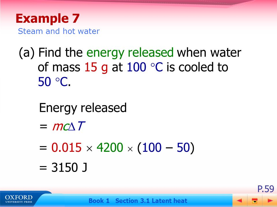 how to find heat energy released