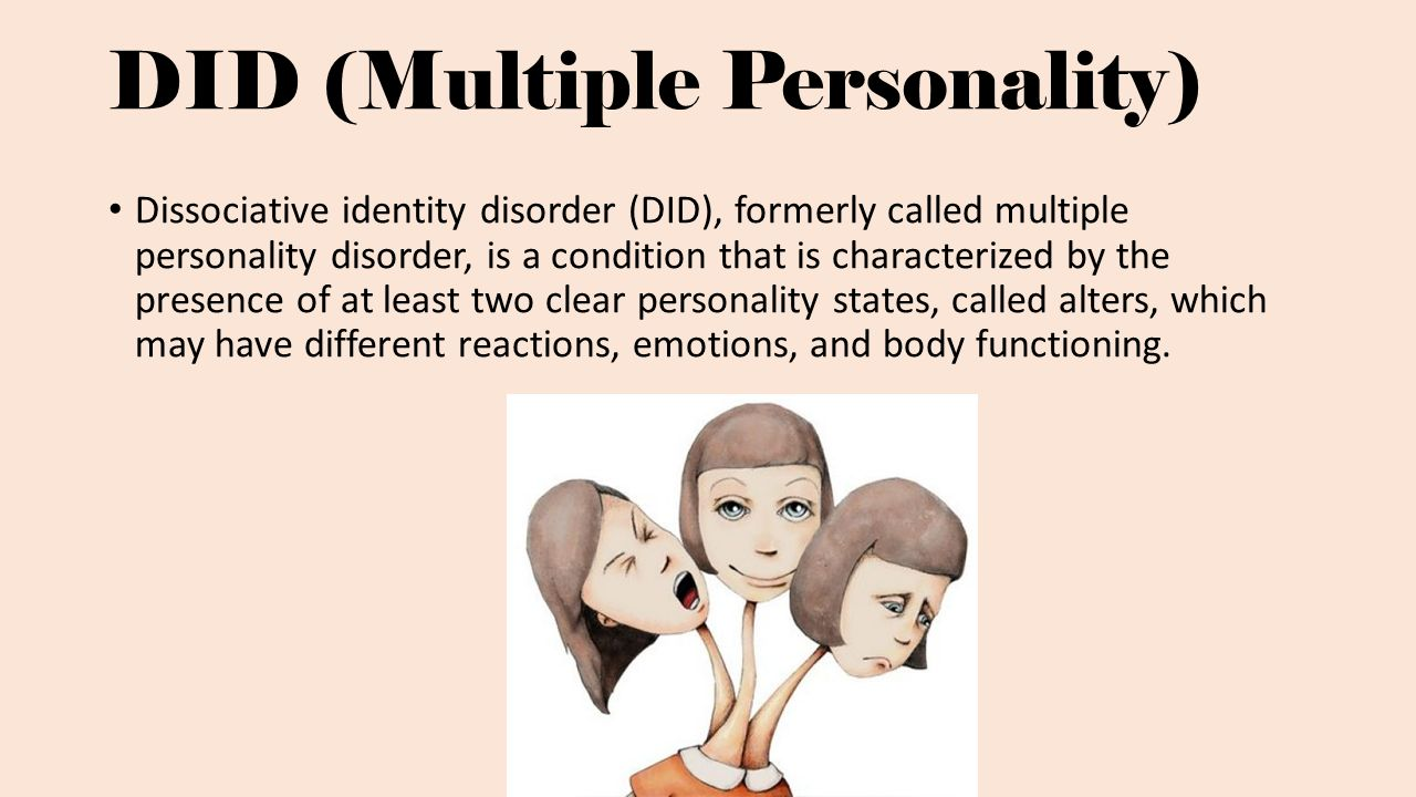 multiple personality disorders