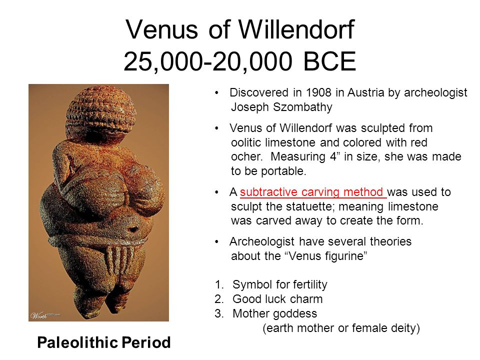 the venus of willendorf formal analysis