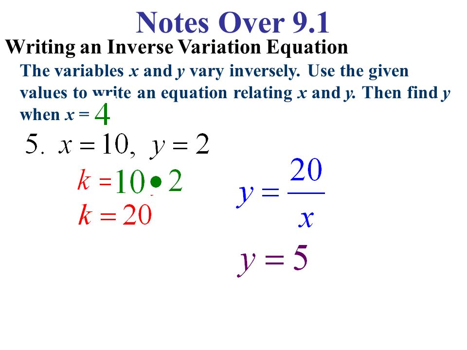 Direct Variation Equations - ppt video online download