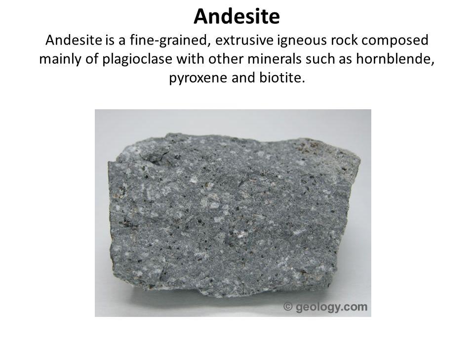 Igneous Rocks Granite Rhyolite Diorite Andesite Gabbro ...