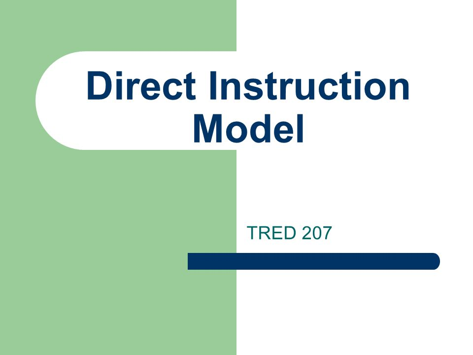 Direct Instruction Model Ppt Video Online Download