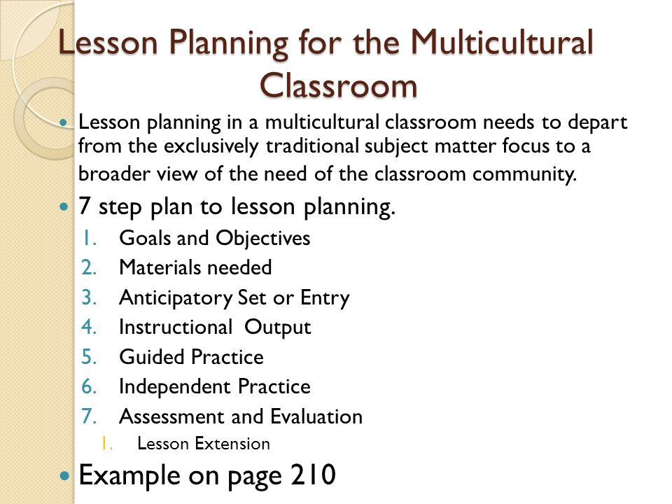 Multicultural Education Chapter 12:. Standard Based Planning and ...