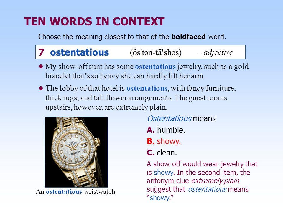 Ostentatious style of dress synonym noun