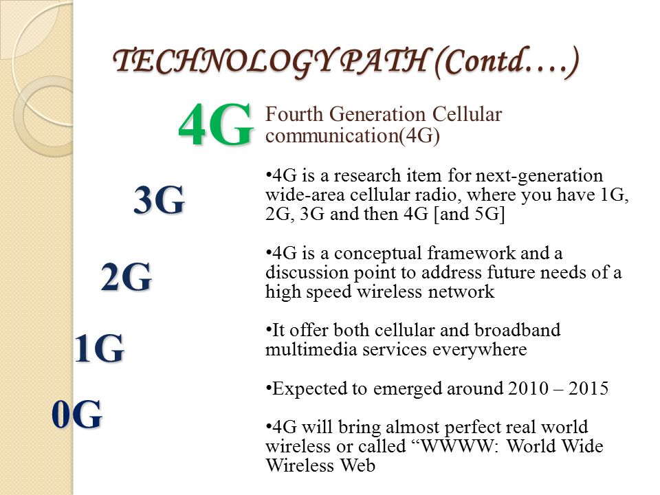 4g technology essay 2g,2 network architectures limitations of 4g technology essay play a key role in implementing the features required to address these issues let us look at the ofdma technology - on which 4g is based.
