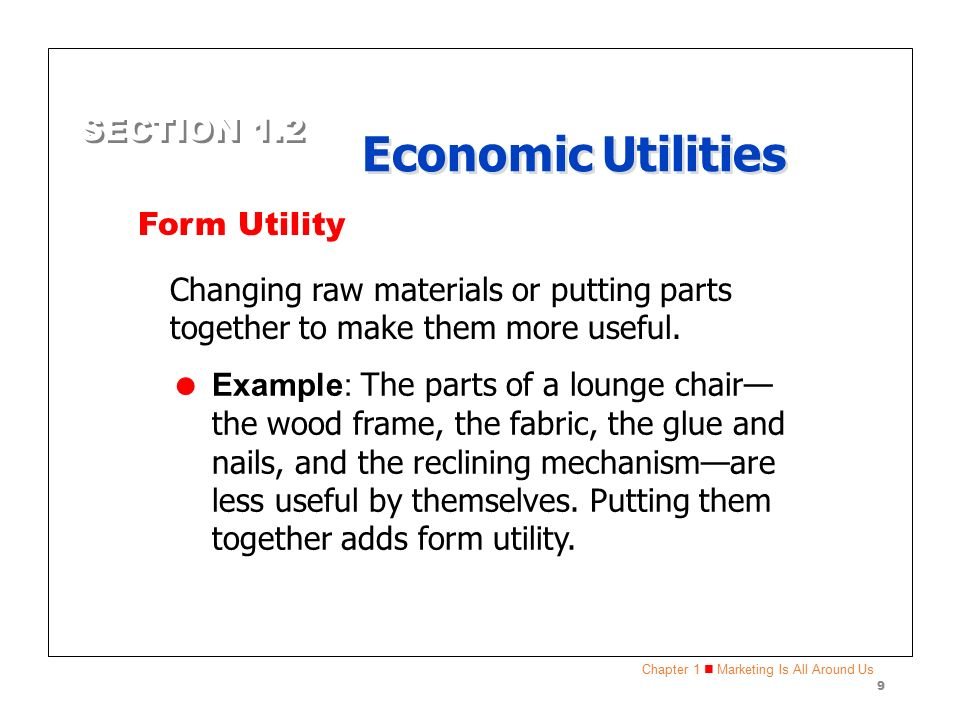 Marketing Essentials Economic Utilities. - ppt video online download