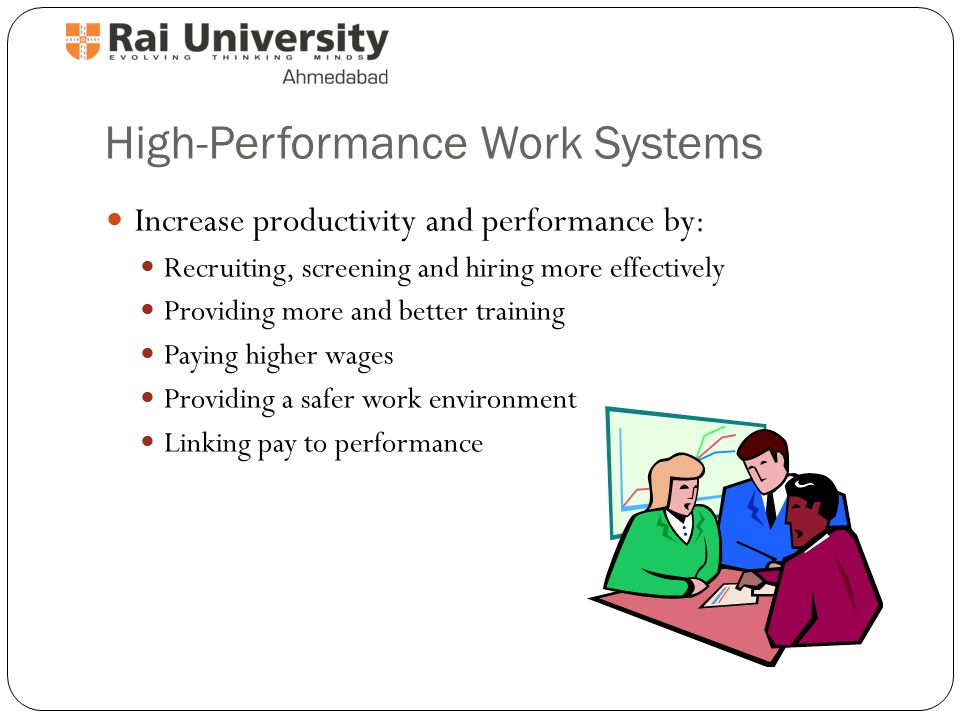 high performance work system High performance work practices (hpwps) are human resource management practices aimed at stimulating employee and organisational performance the application of hpwps is not widespread in small organisations we examine whether the implementation of coherent bundles of hpwps (aimed at employee.
