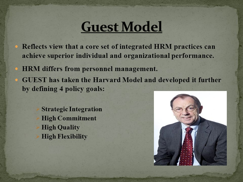 Guest's model of HRM