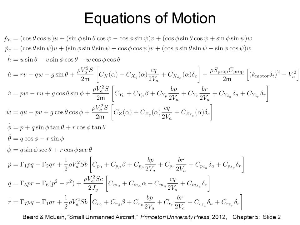 aircraft equation of motion thesis Aerodynamic flutter flutter motion the basic type of flutter of aircraft wing is described here flutter equation of motion.