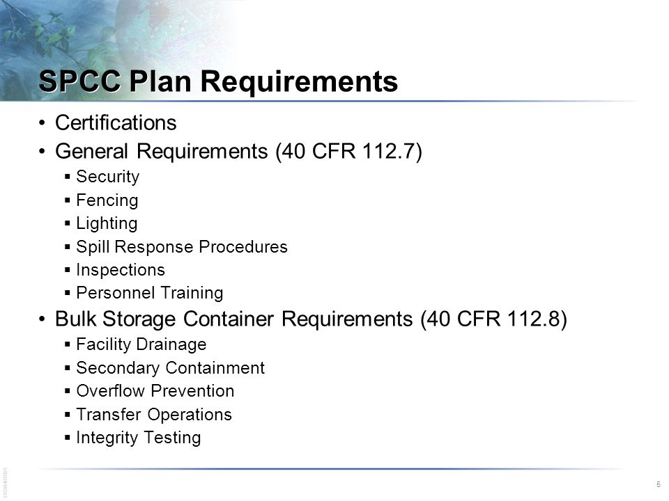 Spill prevention control and countermeasures training spcc spcc plan requirements pronofoot35fo Choice Image