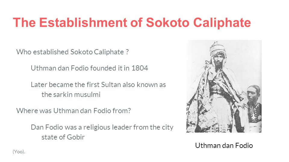 sokoto jihad and the formation of Nigeria: sultan of sokoto says islam is a religion of peace ohi forgot to mention the people slaughtered in the fulani war and the subsequent sokoto jihad.