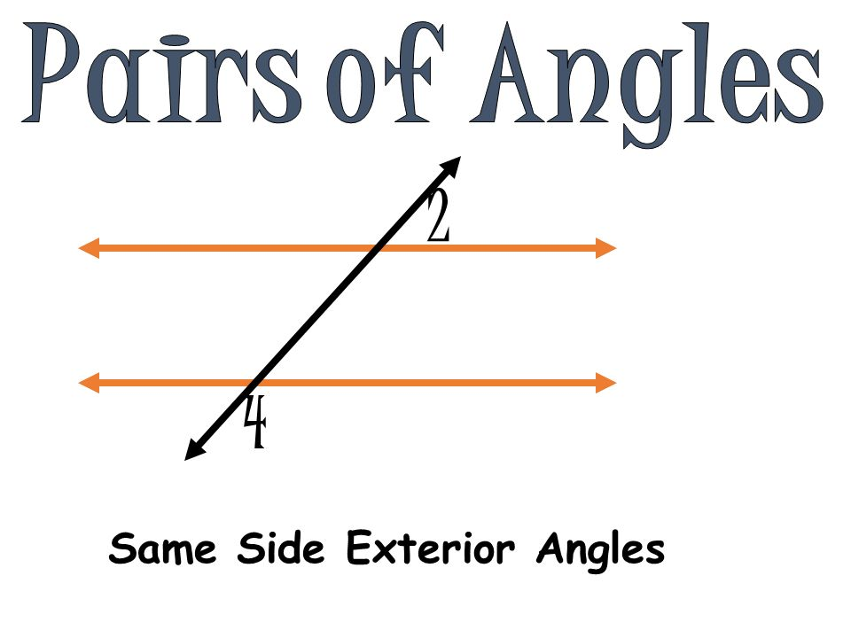 Intersecting lines coplanar lines that share one common - Same side exterior angles are congruent ...
