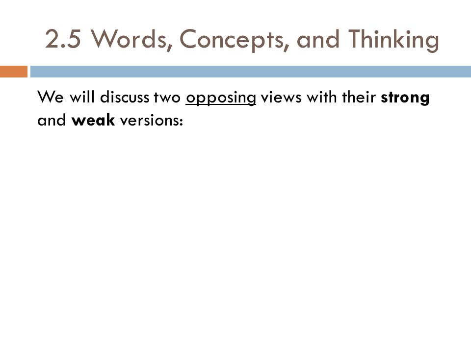 2.5 Words, Concepts, and Thinking