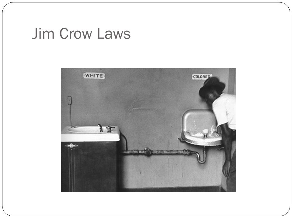 the impact of the jim crow law on the black people in the united states Start studying jim crow laws learn people who rent a plot of movement in the united states beginning in the 1960s and led primarily by blacks in an.