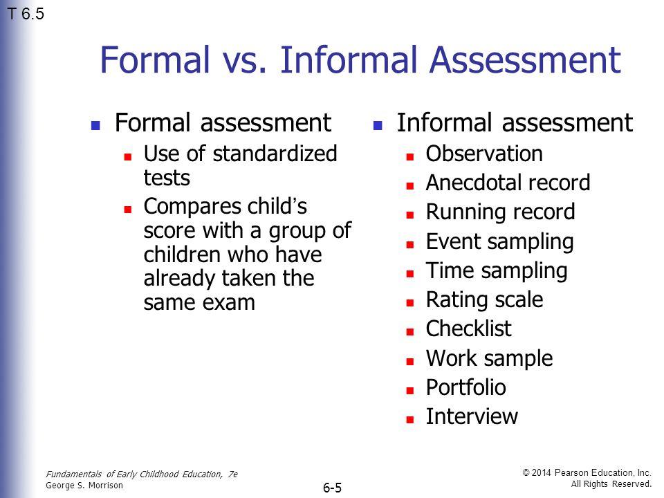 informal writing assessment for grade 8