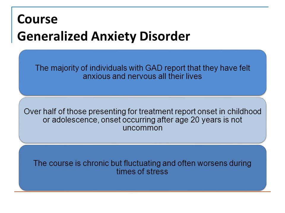 Generalized Anxiety Disorder & Panic Disorder - ppt video ...